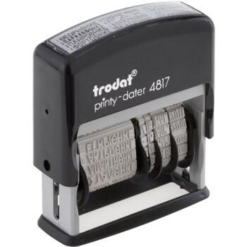 Σφραγίδα Ημερομηνιών TRODAT 4817 Αυτομελανώμενη με Τίτλους & Ελληνικούς Χαρακτήρες Ύψους 3.8mm με μαύρο ταμπόν και μήκος σφραγίδας 4.3cm.
