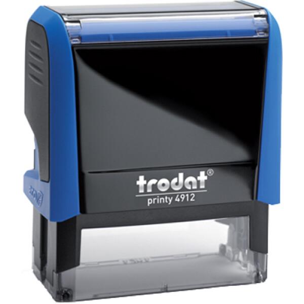 Σφραγίδα Trodat Printy 4912 Eco Αυτομελανώμενη Μπλε για κατασκευή σφραγίδας έως 4ων γραμμών κειμένου.