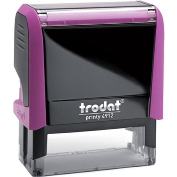 Σφραγίδα Trodat Printy 4912 Eco Αυτομελανώμενη Φούξια για κατασκευή σφραγίδας έως 4ων γραμμών κειμένου.