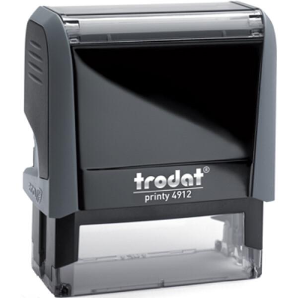 Σφραγίδα Trodat Printy 4912 Eco Αυτομελανώμενη Γκρι για κατασκευή σφραγίδας έως 4ων γραμμών κειμένου.