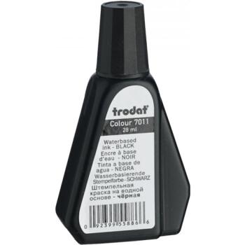 Trodat 7011 Μελάνι Σφραγίδας Μαύρο σε μπουκαλάκι 28ml για όλους τους τύπους ταμπόν Trodat.