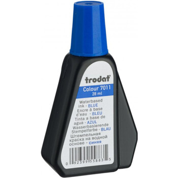 Trodat 7011 Μελάνι Σφραγίδας Μπλε σε μπουκαλάκι 28ml για όλους τους τύπους ταμπόν Trodat.