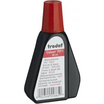 Trodat 7011 Μελάνι Σφραγίδας Κόκκινο σε μπουκαλάκι 28ml για όλους τους τύπους ταμπόν Trodat.
