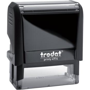 Σφραγίδα Trodat Printy 4914 Eco Αυτομελανώμενη Μαύρη για κατασκευή σφραγίδας έως 8 γραμμών κειμένου.