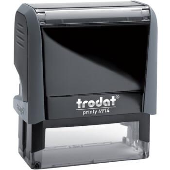 Σφραγίδα Trodat Printy 4914 Eco Αυτομελανώμενη Γκρι για κατασκευή σφραγίδας έως 8 γραμμών κειμένου.