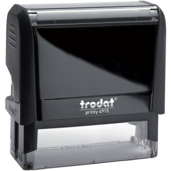 Σφραγίδα Trodat Printy 4915 Eco Αυτομελανώμενη Μαύρη για κατασκευή σφραγίδας έως 7 γραμμών κειμένου.