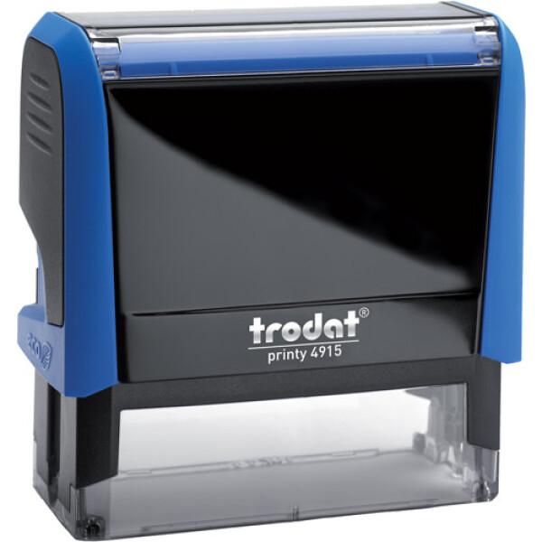 Σφραγίδα Trodat Printy 4915 Eco Αυτομελανώμενη Μπλε για κατασκευή σφραγίδας έως 7 γραμμών κειμένου.