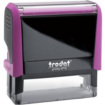 Σφραγίδα Trodat Printy 4915 Eco Αυτομελανώμενη Φούξια για κατασκευή σφραγίδας έως 7 γραμμών κειμένου.