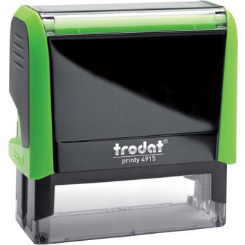 Σφραγίδα Trodat Printy 4915 Eco Αυτομελανώμενη Πράσινη για κατασκευή σφραγίδας έως 7 γραμμών κειμένου.