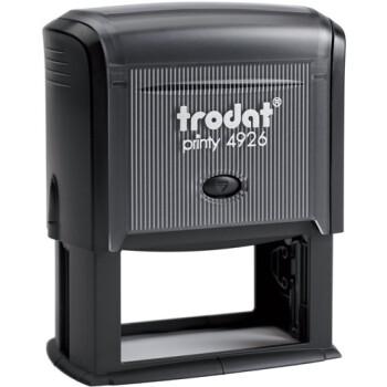 Σφραγίδα Trodat Printy 4926 Eco Αυτομελανώμενη Μαύρη για κατασκευή σφραγίδας έως 10 γραμμών κειμένου.