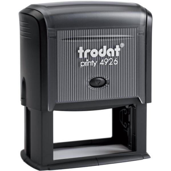 Σφραγίδα Μηχανικών Trodat Printy 4926 Eco Αυτομελανώμενη Μαύρη, για κατασκευή σφραγίδας έως 8 γραμμών κειμένου.