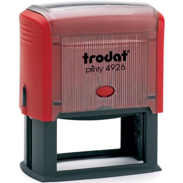 Σφραγίδα Μηχανικών Trodat Printy 4926 Eco Αυτομελανώμενη Κόκκινη, για κατασκευή σφραγίδας έως 7 γραμμών κειμένου.