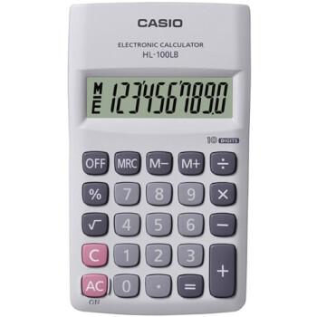 Αριθμομηχανή Τσέπης Casio 10 ψηφίων HL-100LB-w Λευκή για υπολογισμούς με μεγάλη ακρίβεια διαστάσεων 12cm x 7cm.