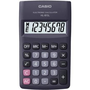 Αριθμομηχανή Γραφείου Casio 8 ψηφίων HL-815L για υπολογισμούς με μεγάλη ακρίβεια διαστάσεων 11,5cm x 6,8cm.