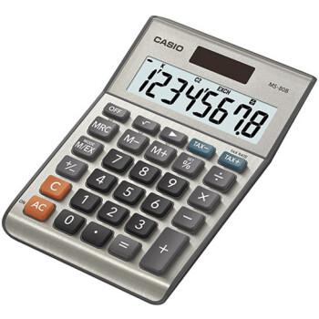 Αριθμομηχανή Γραφείου Casio 8 ψηφίων MS-80B με μεγάλη οθόνη για υπολογισμούς με μεγάλη ακρίβεια διαστάσεων 14,7cm x 10,2cm.