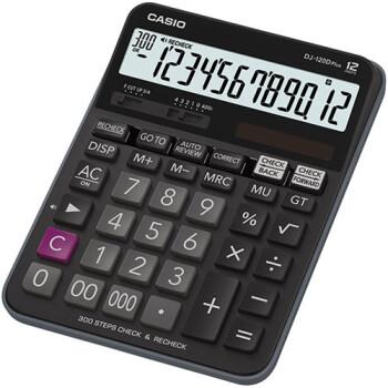 Αριθμομηχανή Γραφείου Casio 12 ψηφίων DJ-120D PLUS με μεγάλη οθόνη για υπολογισμούς με μεγάλη ακρίβεια διαστάσεων 19,2cm x 14,4cm.