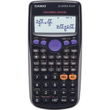 Επιστημονική Αριθμομηχανή Casio 252 μαθηματικών λειτουργιών FX-350ES PLUS με οθόνη 2 γραμμών (φυσικής απεικόνισης (Natural V.P.A.M.) διαστάσεων 16,2cm x 8cm.