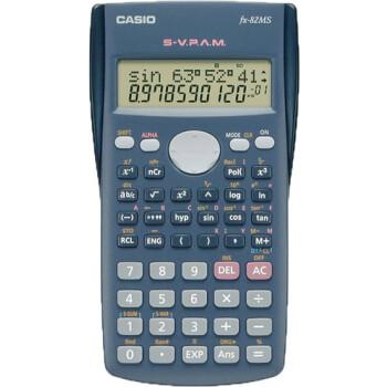 Επιστημονική Αριθμομηχανή Casio 240 μαθηματικών λειτουργιών FX-82MS με οθόνη 2 γραμμών και πλήκτρο πλοήγησης διαστάσεων 18,6cm x 8,5cm.