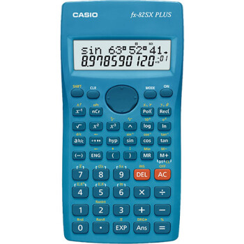 Επιστημονική Αριθμομηχανή Casio 177 μαθηματικών λειτουργιών FX-82SX PLUS με οθόνη 2 γραμμών και πλήκτρο πλοήγησης διαστάσεων 19,5cm x 7,8cm.