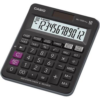 Αριθμομηχανή Γραφείου Casio 12 ψηφίων MJ-120D με μεγάλη οθόνη για υπολογισμούς με μεγάλη ακρίβεια διαστάσεων 14,8cm x 12,7cm.