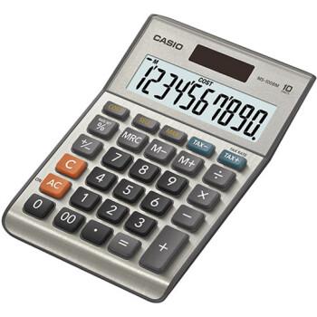 Αριθμομηχανή Γραφείου Casio 10 ψηφίων MS-100BM με μεγάλη οθόνη για υπολογισμούς με μεγάλη ακρίβεια διαστάσεων 14,7cm x 10,2cm.