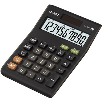 Αριθμομηχανή Γραφείου Casio 10 ψηφίων MS-10B με μεγάλη οθόνη για υπολογισμούς με μεγάλη ακρίβεια διαστάσεων 14,7cm x 10,3cm.