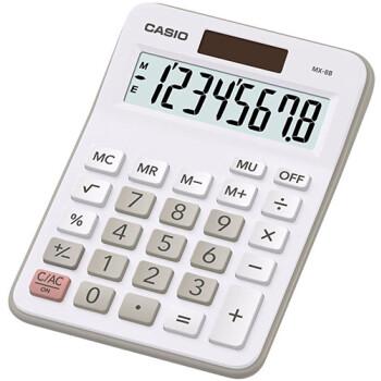 Αριθμομηχανή Γραφείου Casio 8 ψηφίων MX-8B με μεγάλη οθόνη για υπολογισμούς με μεγάλη ακρίβεια διαστάσεων 14,5cm x 10cm.