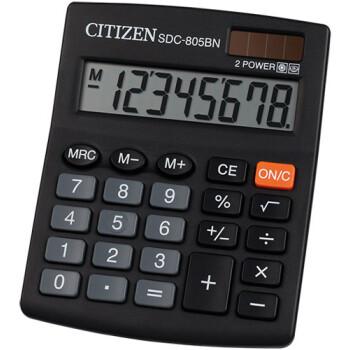 Αριθμομηχανή Γραφείου Citizen 8 ψηφίων SDC-805BN με μεγάλη οθόνη για υπολογισμούς με μεγάλη ακρίβεια διαστάσεων 12,4cm x 10,2cm.