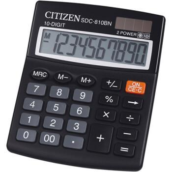 Αριθμομηχανή Γραφείου Citizen 10 ψηφίων SDC-810BN με μεγάλη οθόνη για υπολογισμούς με μεγάλη ακρίβεια διαστάσεων 12,4cm x 10,2cm.