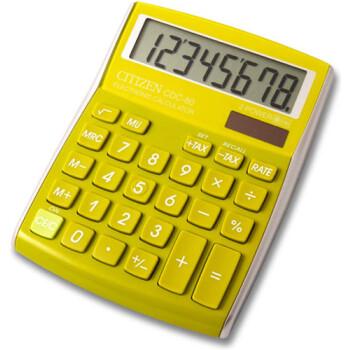Αριθμομηχανή Γραφείου Citizen 8 ψηφίων CDC-80GR με μεγάλη οθόνη για υπολογισμούς με μεγάλη ακρίβεια διαστάσεων 13,5cm x 10,8cm.