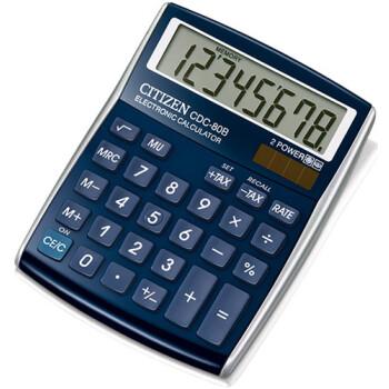 Αριθμομηχανή Γραφείου Citizen 8 ψηφίων CDC-80BL με μεγάλη οθόνη για υπολογισμούς με μεγάλη ακρίβεια διαστάσεων 13,5cm x 10,8cm.