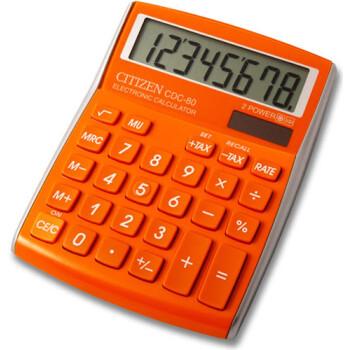 Αριθμομηχανή Γραφείου Citizen 8 ψηφίων CDC-80OR με μεγάλη οθόνη για υπολογισμούς με μεγάλη ακρίβεια διαστάσεων 13,5cm x 10,8cm.