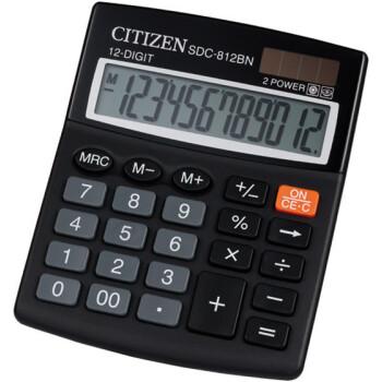 Αριθμομηχανή Γραφείου Citizen 12 ψηφίων SDC-812BN με μεγάλη οθόνη για υπολογισμούς με μεγάλη ακρίβεια διαστάσεων 12,4cm x 10,2cm.