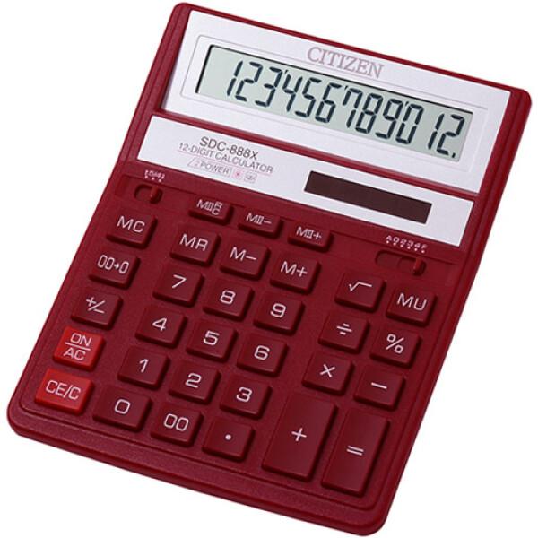 """Αριθμομηχανή Γραφείου Citizen 12 ψηφίων SDC-888XRD με extra μεγάλη οθόνη για """"άνετους"""" επαγγελματικούς υπολογισμούς με διάσταση μηχανής 20,5cm x 15,5cm."""