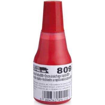 Colop 809 Μελάνι Premium Ανεξίτηλο Σφραγίδας Κόκκινο σε μπουκαλάκι 25ml για επιφάνειες που το απλό μελάνι δεν στεγνώνει.