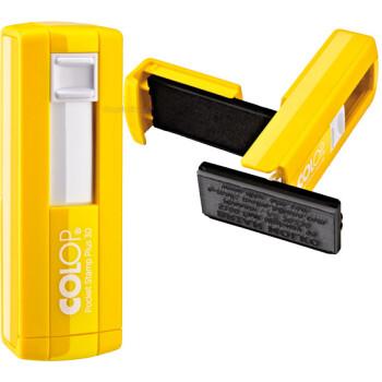 Σφραγίδα Colop Pocket Stamp Plus 30 Τσέπης Κίτρινη για κατασκευή σφραγίδας έως 5 γραμμών κειμένου.