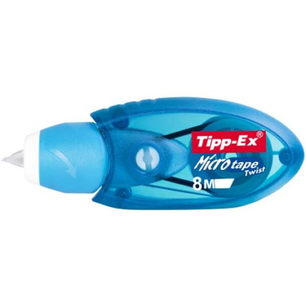 Διορθωτική Ταινία Tipp-Ex Micro Tape με πάχος διόρθωσης 5mm και 8 μέτρα μήκος σε μηχανiσμό Μπλε.