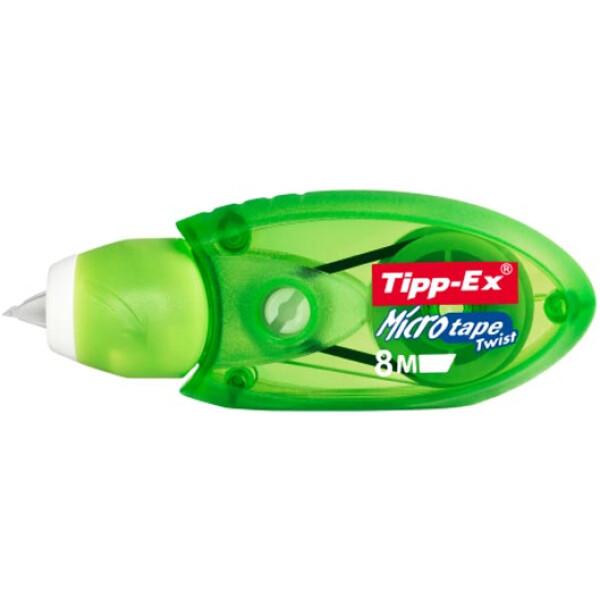 Διορθωτική Ταινία Tipp-Ex Micro Tape με πάχος διόρθωσης 5mm και 8 μέτρα μήκος σε μηχανiσμό Πράσινο.
