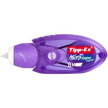 Διορθωτική Ταινία Tipp-Ex Micro Tape με πάχος διόρθωσης 5mm και 8 μέτρα μήκος σε μηχανiσμό Μώβ.