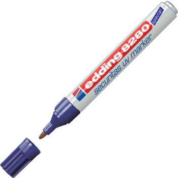 Μαρκαδόρος Edding 8280 UV Marker με σώμα από αλουμίνιο και στρογγυλή μύτη πάχους 1,5 έως 3mm.