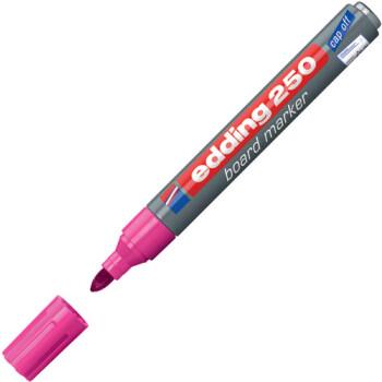 Μαρκαδόρος Edding 250 Ροζ με σώμα από αλουμίνιο και στρογγυλή μύτη πάχους 1.5 έως 3mm.