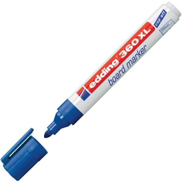 Μαρκαδόρος Edding 360XL Μπλε με πλαστικό σώμα και στρογγυλή μύτη πάχους 1.5 έως 3mm.
