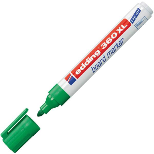 Μαρκαδόρος Edding 360XL Πράσινος με πλαστικό σώμα και στρογγυλή μύτη πάχους 1.5 έως 3mm.