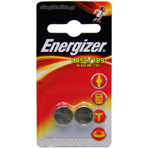 Μπαταρίες Energizer Αλκαλικές τύπου LR54/189 Ηλεκτρονικών συσκευών 1.5V σε συσκευασία 2 τεμαχίων.