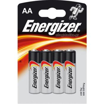 Μπαταρίες Energizer Αλκαλικές τύπου ΑΑ σε συσκευασία 4ων τεμαχίων σχεδιασμένες για να παρέχουν υψηλή απόδοση και μέγιστη αντοχή.