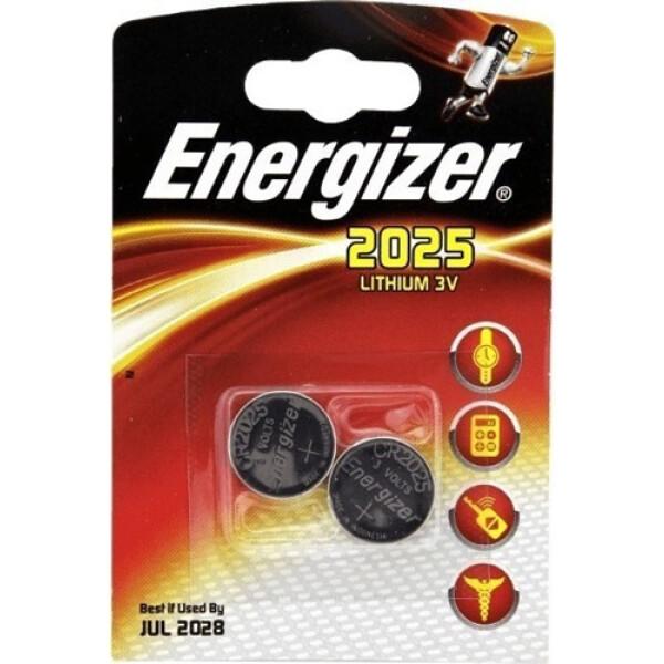 Μπαταρίες Energizer Λιθίου CR2025 τύπου νομίσματος (Coin), σχεδιασμένες για να παρέχουν υψηλή απόδοση και μέγιστη αντοχή.