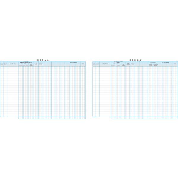 Βιβλίο Εσόδων - Εξόδων 100 φύλλων διαστάσεων 30x43cm με κωδικό 127γ από την ΤΥΠΟΤΡΑΣΤ.