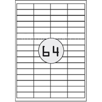 Ετικέτες Εκτυπωτών Αυτοκόλλητες A-label, σε κουτί 100 φύλλων και σύνολο 6400 ετικέτες για εκτύπωση.