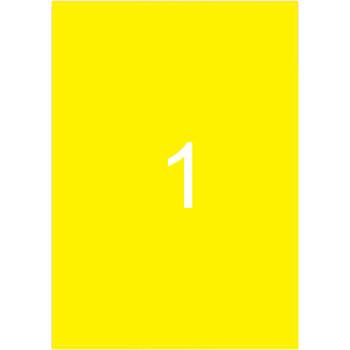 Ετικέτες Εκτυπωτών Αυτοκόλλητες Typolabel, Κίτρινες σε πακέτο 25 φύλλων για εκτύπωση.