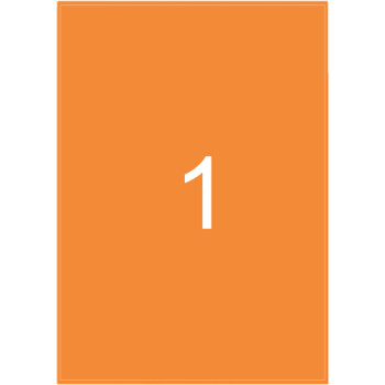 Ετικέτες Εκτυπωτών Αυτοκόλλητες Typolabel, Πορτοκαλί Φωσφοριζέ σε πακέτο 25 φύλλων για εκτύπωση.